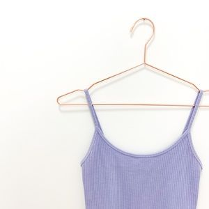 PURPLE TOPSHOP CROPPED RIBBED CAMI, US 8